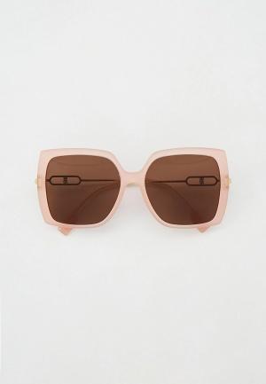 Очки солнцезащитные Burberry. Цвет: розовый