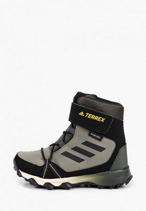 Ботинки трекинговые adidas. Цвет: хаки