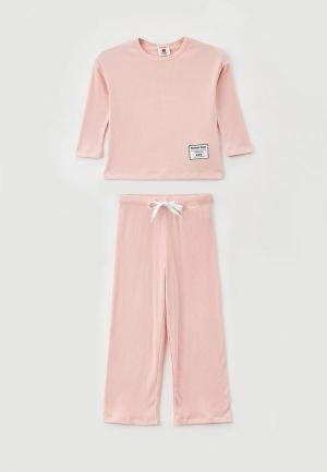 Пижама Button Blue. Цвет: розовый