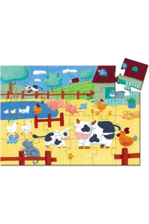 Пазл, Коровы на ферме Djeco. Цвет: белый