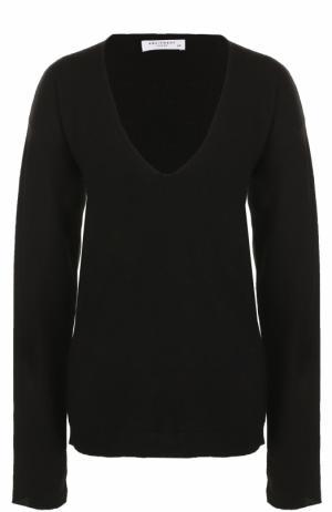 Кашемировый пуловер с V-образным вырезом Equipment. Цвет: черный