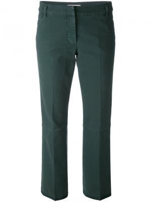 Укороченные брюки-чинос Dorothee Schumacher. Цвет: зелёный