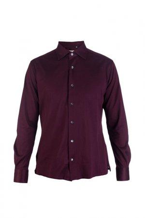 Рубашка LUCIANO BARBERA. Цвет: бордовый