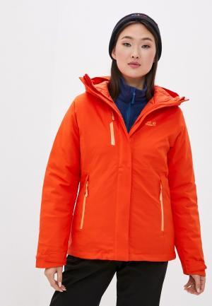 Куртка утепленная Jack Wolfskin. Цвет: оранжевый