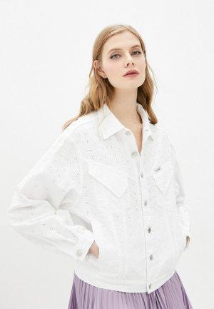 Куртка джинсовая Forte Dei Marmi Couture. Цвет: белый