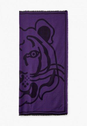 Платок Kenzo. Цвет: фиолетовый