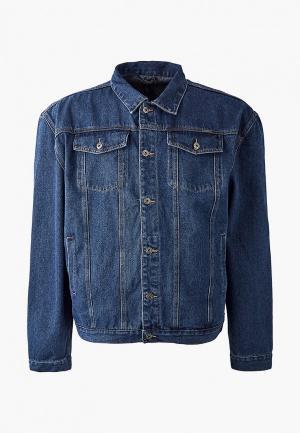 Куртка джинсовая D555. Цвет: синий