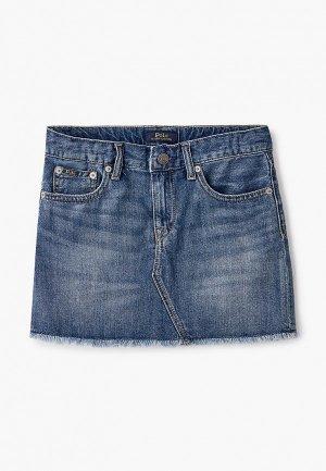 Юбка джинсовая Polo Ralph Lauren. Цвет: синий