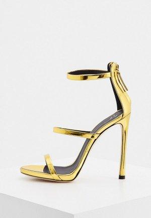 Босоножки Giuseppe Zanotti. Цвет: золотой