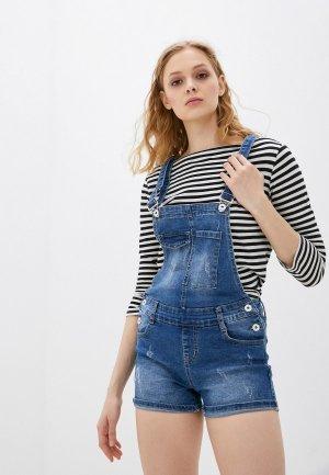 Комбинезон джинсовый Adrixx. Цвет: синий