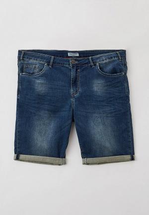 Шорты джинсовые Maxfort. Цвет: синий