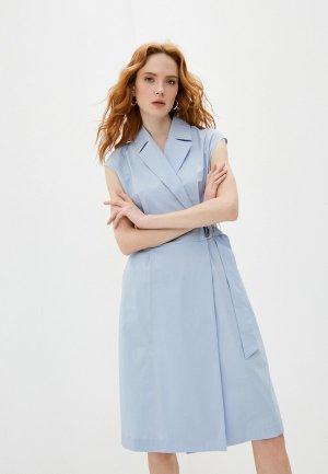 Платье Cappellini. Цвет: голубой