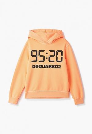 Худи Dsquared2. Цвет: оранжевый