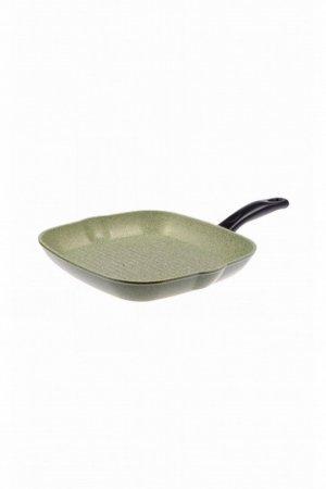 Сковорода -гриль 27х27 PANAIRO. Цвет: оливковый