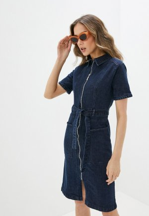 Платье джинсовое Yumi. Цвет: синий