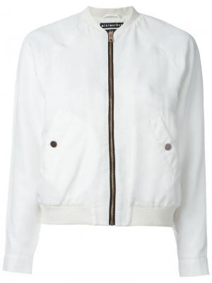 Куртка-бомбер Hapy Minimarket. Цвет: белый