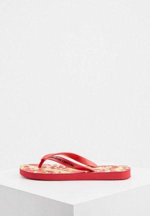 Сланцы Versace Jeans Couture. Цвет: красный