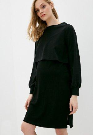 Платье и свитшот Gap Maternity. Цвет: черный