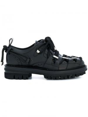 Броги со шнуровкой Dsquared2. Цвет: чёрный