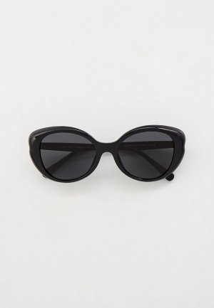 Очки солнцезащитные Coach. Цвет: черный