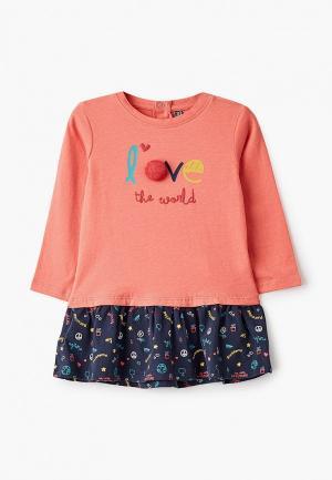 Платье Losan. Цвет: розовый