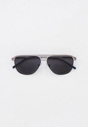 Очки солнцезащитные Arnette. Цвет: серебряный