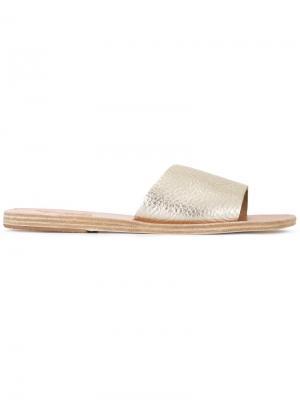 Шлепанцы Taygete Ancient Greek Sandals. Цвет: металлический