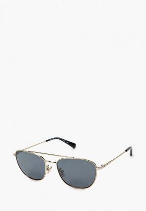 Очки солнцезащитные Coach. Цвет: золотой