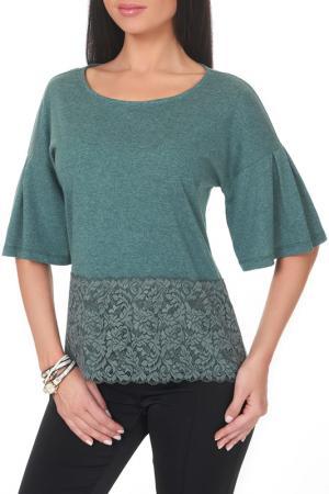 Блузка Argent. Цвет: зеленый меланж