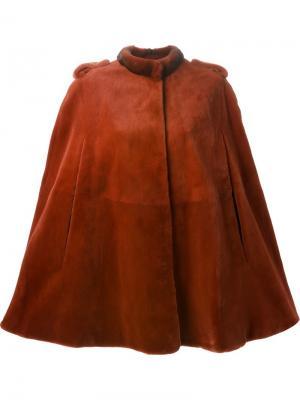 Норковая шуба-кейп Liska. Цвет: красный