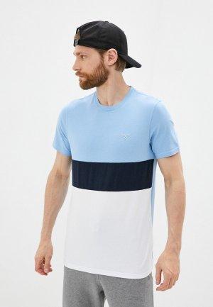 Футболка Barbour. Цвет: голубой