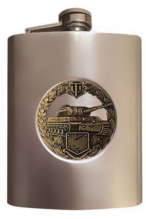 Фляжка World of tanks 170 мл ЭКСПЕДИЦИЯ. Цвет: металлик