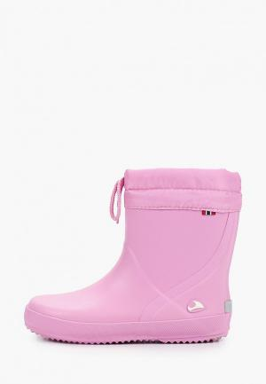 Резиновые сапоги Viking. Цвет: розовый
