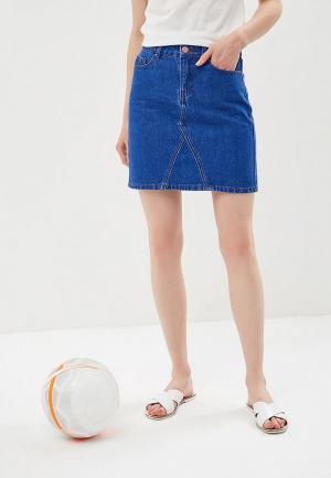 Юбка джинсовая Dorothy Perkins. Цвет: синий