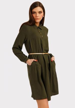 Платье Finn Flare. Цвет: зеленый
