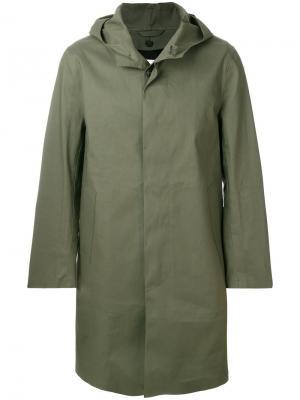 Пальто с капюшоном Mackintosh. Цвет: зелёный