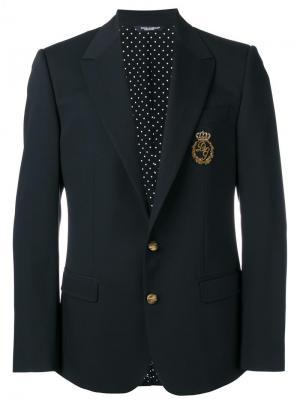 Блейзер с нашивкой Dolce & Gabbana. Цвет: чёрный