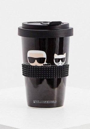 Термокружка Karl Lagerfeld. Цвет: черный