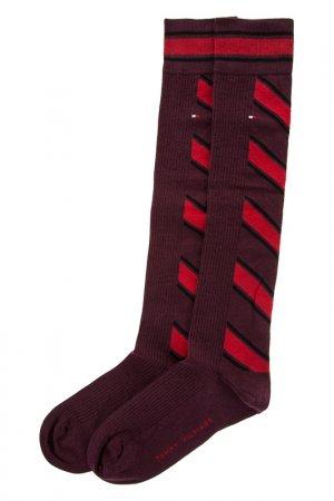 Носки TOMMY HILFIGER. Цвет: бордовый