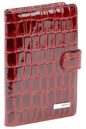 Обложка на документы KARYA. Цвет: бордовый лак