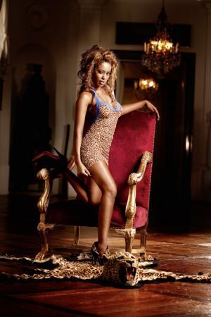 Мини-платье BACI LINGERIE. Цвет: леопард
