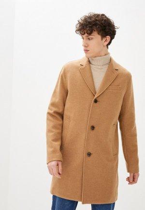 Пальто Gap. Цвет: бежевый