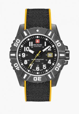 Часы Swiss Military Hanowa. Цвет: черный