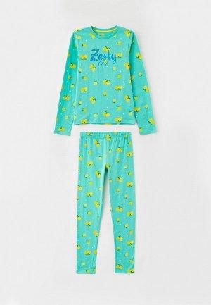 Пижама Blukids. Цвет: зеленый