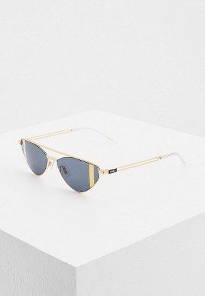 Очки солнцезащитные Hugo. Цвет: золотой