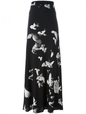 Юбка с цветочным принтом A.F.Vandevorst. Цвет: чёрный