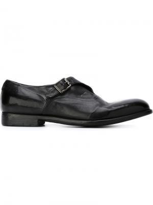 Туфли с ремешком на пряжке Alberto Fasciani. Цвет: чёрный