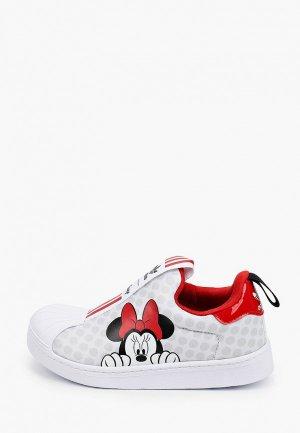 Слипоны adidas Originals. Цвет: белый