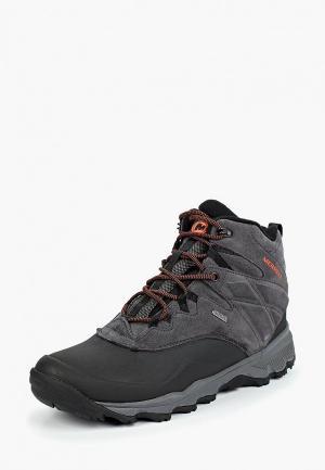 Ботинки трекинговые Merrell. Цвет: серый
