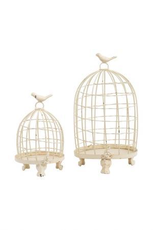 Клетка для птиц, 2 шт ГЛАСАР. Цвет: белый